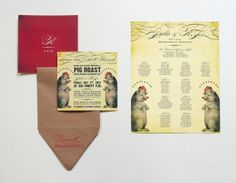 Lovely Day Atelier // Pig Roast Rehearsal Dinner Invitation // Lynne Russell // Design – Jessica Suhr