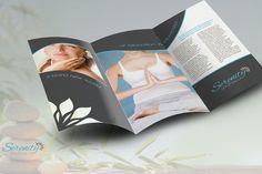 Serenity Spa - Trifold Brochure by Spyros Thalassinos on Spa Logo, Latest Fonts, Brochure Template, Brand Identity, Serenity, Salons, Cosmetics, Illustration, Image