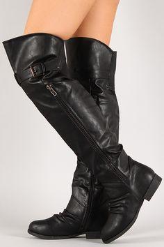 Thigh High Round Toe Riding Boot, vegan,$17