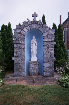 Lourdes Grotto, St. Adalbart's Church, Enfield, Connecticut