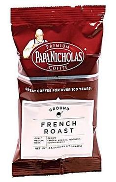 Papa Nicholas French Roast Ground Coffee Regular 25 oz 18 Packets *** Click image for more details. (This is an affiliate link) #GroundCoffee