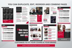 Fitness ebook Template by Blissful Pixels on @creativemarket You Fitness, Templates, Business, Building, Role Models, Buildings, Template, Western Food, Patterns