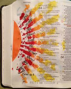 Bible Journaling Ideas 1000 Bilder zu Journaling Bible id Bible Journaling For Beginners, Bible Study Journal, Scripture Study, Bible Art, Bible Drawing, Bible Doodling, Psalm 65, Bibel Journal, Bible Notes