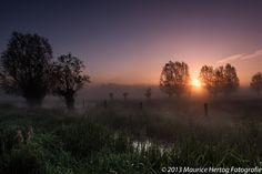 Mistige zonsopgang, Keuzemeersen (BE)