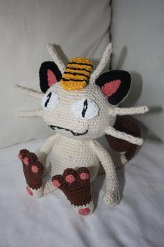 Meowth / Mauzi  Crochet Pokemon by crochetmeow on Etsy, €59.99