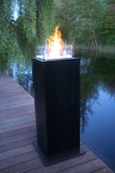 Tuinhaard / Sfeerhaard Kolom Pro Bioethanol Fireplace, Fireplaces, Fire Basket, Patio Accessories, Outdoor Living, Outdoor Decor, Garden Inspiration, Garden Ideas, Living Spaces