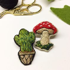 ❤️ #embroidery #brooch #handstitched #etsy #etsyshop #handembroidery #creamente…