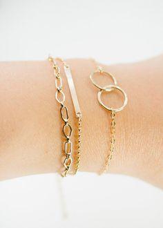 Aheahe bracelet - gold chain bracelet, simple gold layering bracelet, gold layer bracelet, birthday gift, friendship bracelet, maui, hawaii