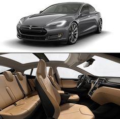 Tesla Electric Car. - UHG absolutely beautiful styling kudos to Tesla designers.