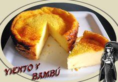 viento y bambú: Tarta de queso sobre base de hojaldre