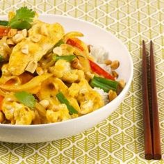 Peanut Chicken and Cauliflower Curry Stir-Fry for Two recipe