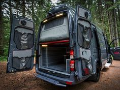 Portland-based Outside Van specialize in converting the Mercedes Sprinter into a drool-worthy, tricked-out camper van with loads of interior space for dedicated to hauling sports gear into and out of the wild. Designed for serious gear heads, the kit