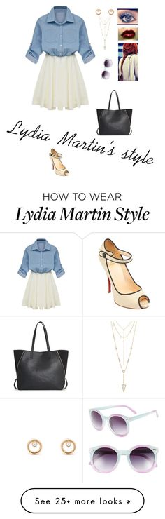 """""""Lydia Martin's style"""" by avalongreen-12 on Polyvore featuring House of Harlow 1960, Christian Louboutin, Tildon and MANGO"""
