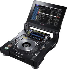 TOUR system multi player with fold-out touch screen (black) - Pioneer DJ Dj Setup, Gaming Room Setup, Music Mixer, Music Studio Room, Studio Setup, Top Dj, Serato Dj, Musica, Top