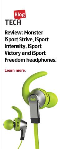 Check out the Tech Blog for the new Monster iSport Intensify in-ear headphones.