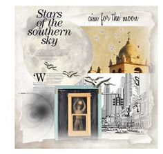 """""""Aim for the moon"""" by pupillae ❤ liked on Polyvore featuring art"""
