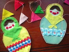 #handmade #sewing #nestingdolls #craft #doll #bunting
