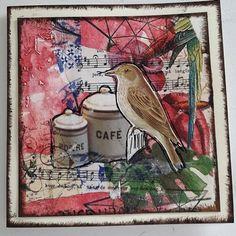 Fasters korthus: Decoupage bird