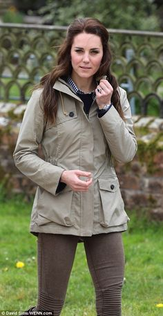The Duchess of Cambridge dressed down in a pair of Zara jeans as she visited Farms for City Children in Arlingham, Gloucester on Wednesday.