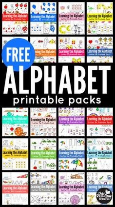 FREE Learning Packs for Preschool and Kindergarten Toddler Learning Activities, Preschool Learning Activities, Preschool Themes, Preschool Printables, Preschool Lessons, Alphabet Activities, Preschool Worksheets, Preschool Curriculum Free, Homeschool Kindergarten