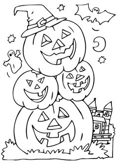Printable Halloween Coloring Pages for Kids. 20 Printable Halloween Coloring Pages for Kids. Free Printable Halloween Coloring Pages Kids Halloween the Halloween Pumpkin Coloring Pages, Halloween Coloring Pictures, Halloween Coloring Sheets, Fall Coloring Pages, Coloring Pages To Print, Adult Coloring Pages, Coloring Books, Kids Coloring, Halloween Pictures To Color