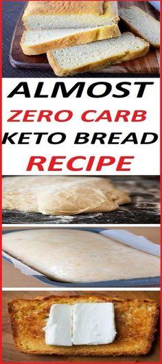 ALMOST ZERO CARB KETO BREAD RECIPE cauliflower recipes cauliflower recipes; Keto Foods, Ketogenic Recipes, Keto Snacks, Diabetic Recipes, Low Carb Recipes, Cooking Recipes, Keto Carbs, Healthy Carbs, Vegetarian Recipes