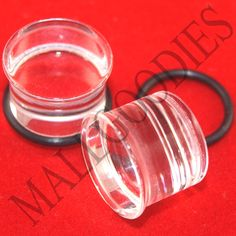 Red Basic Acrylic Single Flared PlugsSold as Pairs
