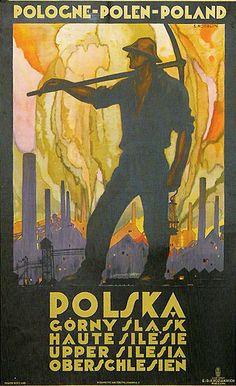 Polish Travel Poster by Stefan Norblin, 1925, Polska (Poland).