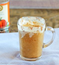 Copycat Starbucks Pumpkin Frappuccinos. I could drink one of these every single day.