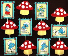 Pin Smurf Cupcake Topper Set Of 12 Birthday Party By Partybees On Etsy  cakepins.com
