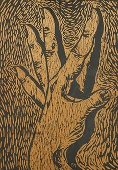 Woman's hand, Frans Masereel. Belgian (1889 - 1972) - Woodcut -