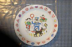 Child plate Stavanger flint Norway Trygg Trafikk by MargithVintage, kr110.00