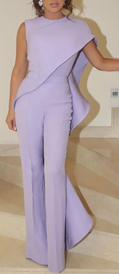 Elegant Single Shoulder Out Ruffled Irregular Design Jumpsuit – Prilly jumpsuit outfit jumpsuits casual jumpsuits for women jumpsuits and romper summer romper cute rompers Classy Outfits, Chic Outfits, Online Shops, Inspiration Mode, Jumpsuits For Women, Fashion Jumpsuits, Rompers Women, Pattern Fashion, African Fashion