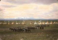 Blackfoot Camp, Montana Early 1900's