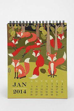 Paper Source Art Easel 2014 Calendar