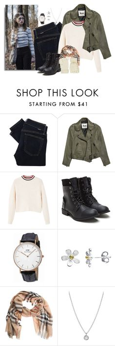 """Nancy Wheeler: Winter"" by holly-the-fangirl ❤ liked on Polyvore featuring Polo Ralph Lauren, Acne Studios, MANGO, Daniel Wellington, Nina B, Burberry, Finn and Accessorize"