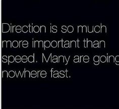 Direction vs Speed