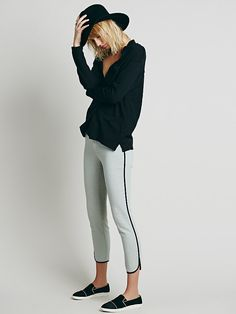 Free People Skinny With Piping, $98.00