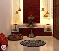Traditional Indian Home Decorating Ideas - Home Decor Indian Style Ethnic Indian Home Decor Ideas - Indian Interior Design Ideas Living Room livingroommodern Indian Home Design, Indian Interior Design, Temple Design For Home, Indian Home Decor, Traditional Interior, Traditional Décor, Traditional Kitchens, Interior Ideas, Living Room Modern