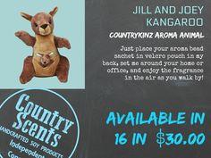 Kangaroo Jilly and Joey www.countryscents... #kangaroo #stuffedanimal #animal #animalkingdom #gift #christmasgift #christmas #holiday #givingtree #christmastree #stockingstuffer #kidstoys #plushtoys #csc #fdaapproved #soycandle #candle #soywaxcandles