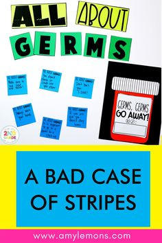 A Bad Case of Stripes has been a classroom favorite for years.  With this book companion, students analyze Camilla Cream, learn to write a summary, make a nonfiction connection about germs, and dig deep into vocabulary. Bad Case Of Stripes, Guidance Lessons, Learning To Write, Challenge Week, Dig Deep, Character Education, First Day Of School, Anchor Charts, First Grade
