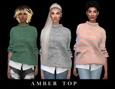 Amber Top at Leo Sims • Sims 4 Updates