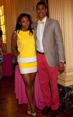 Arielle Patrick and Eric Taylor. I love black people in preppy clothes.