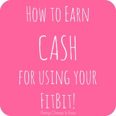 How to Earn CASH for using your FitBit! via Being Cheap is Easy Health Tips, Health And Wellness, Health Fitness, Group Fitness, Fitness Tips, Fitbit One, Fitbit Charge, I Work Out, Fitness Tracker