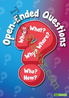 Open-Ended Questions Poster | Teaching Resources - Teach Starter