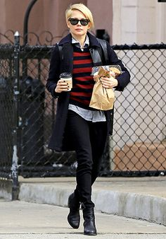After a European press tour for Oz the Great and Powerful, a newly single Michelle Williams grabbed breakfast in NYC March 2.