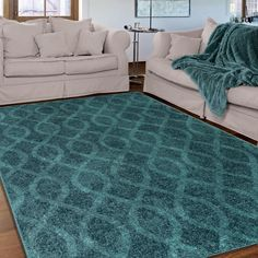 Our Melodic Tour De Loops area rug enhances the fashionable over-dyed look with its contemporary elegance and distressed vintage design. The tonal hues of vibrant teals makes this rug a unique showstopper.