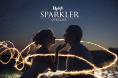 SALE! 160 Sparkler Overlays by Uplift Actions on @creativemarket