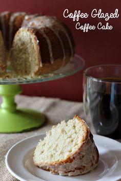 Coffee Glazed Coffee Cake