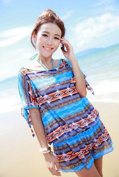 Casual Halter Beach Bikini Set Three-Piece Swimming Suit For Women (AS THE PICTURE,XL) | Sammydress.com